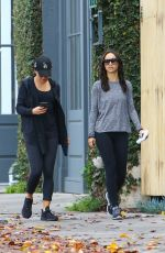 LEA MICHELE and CARA SANTANA Out in West Hollywood 01/07/2017