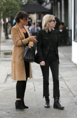 LEA MICHELE and EMMA ROBERTS Out Shopping in West Hollywood 01/05/2017