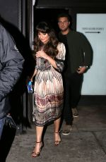 LEA MICHELE Leaves Hotel Cafe in Hollywood 01/23/2017