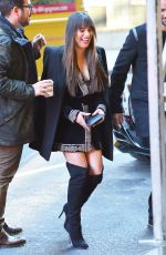 LEA MICHELE Out in New York 01/25/2017