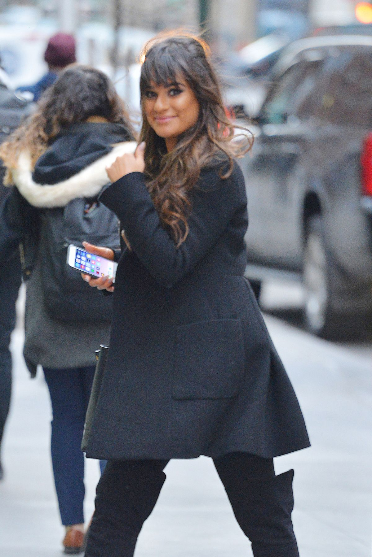 LEA MICHELE Out in New York 01/27/2017