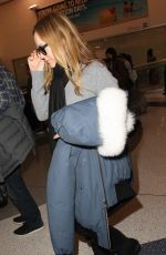 LESLIE MANN at LAX AIrport in Los Angeles 01/19/2017