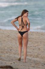 LEXI WOOD in Bikini on the Beach in Miami 12/09/2016