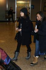LILY COLLINS Arrives in Salt Lake City 01/22/2017