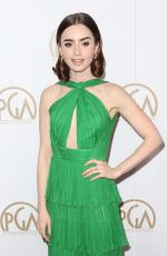 LILY COLLINS at 28th Annual Producers Guild Awards in Beverly Hills 01/28/2017