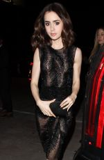 LILY COLLINS at Catch LA in Los Angeles 01/06/2017