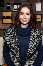 LILY COLLINS at IMDB Studio at 2017 Sundance Film Festival 01/20/2017