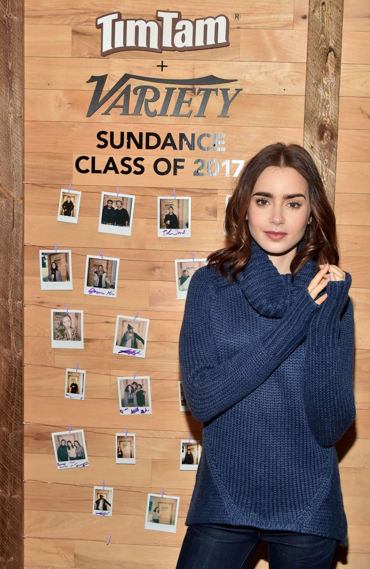 LILY COLLINS at Variety Studio at 2017 Sundance Film Festival 01/21/2017