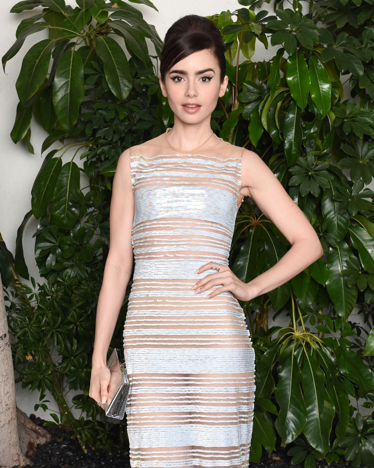 LILY COLLINS at W Magazine Celebrates Best Performances Portfolio & Golden Globes with Audi in West Hollywood 01/05/2017
