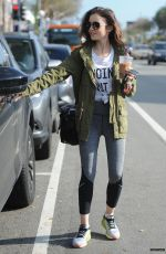 LILY COLLINS Leaves a Gym in Los Angeles 01/16/2017