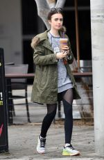 LILY COLLINS Out and About in Los Angeles 01/23/2017