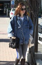 LILY COLLINS Out Shopping in West Hollywood 01/26/2017
