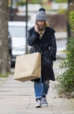 LILY JAMES Out Shopping in London 01/15/2017