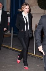 LILY-ROSE DEPP Leaves Cesar Revelations Photocall 2017 in Paris 01/16/2017
