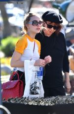 LILY-ROSE DEPP Shopping at a Flea Market in Los Angeles 01/10/2017