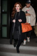 LINDSAY LOHAN Night Out in Milan 01/15/2017