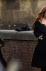 LINDSAY LOHAN on the Set of a Photoshoot in Florence 01/10/2017