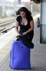 LISA APPLETON at a Train Station in London 01/05/2017
