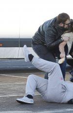 LISA APPLETON Attacks Paparazzi in Warrington 01/03/2017