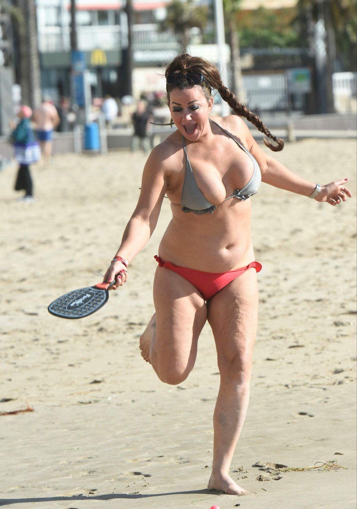 LISA APPLETON in Bikini on the Beach in Spain 01/20/2017