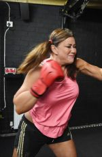 LISA APPLETON Working Out with Liam Halewood in Warrington 01/08/2017