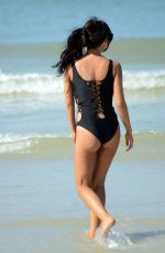 LISA OPIE in Swimsuit at a Beach in Miami 01/11/2017