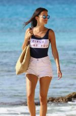 LUCY WATSON in Swimsuit at a Beach in Barbados 01/04/2017
