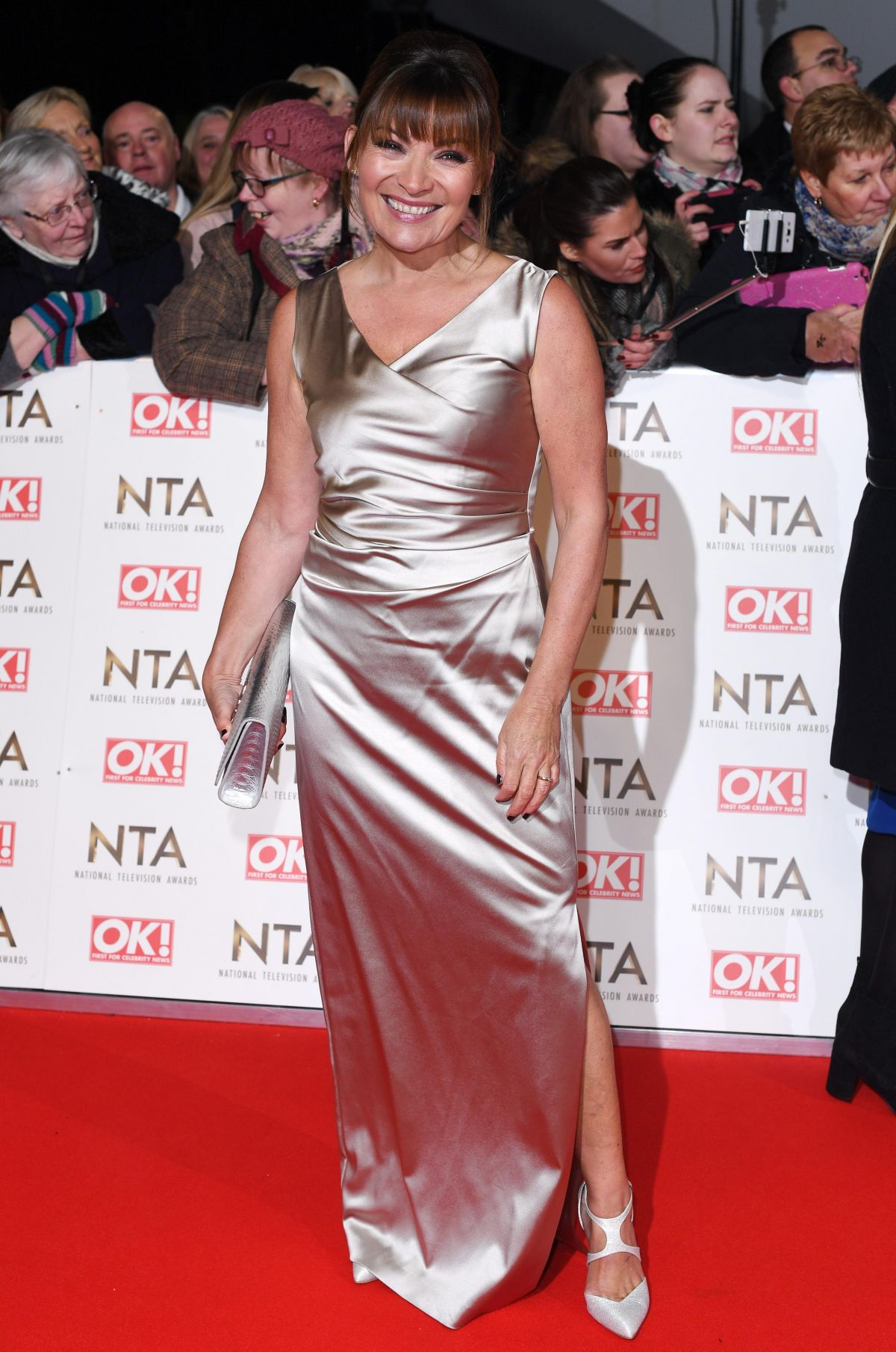 LORRAINE KELLY at National Television Awards in London 01/25/2017
