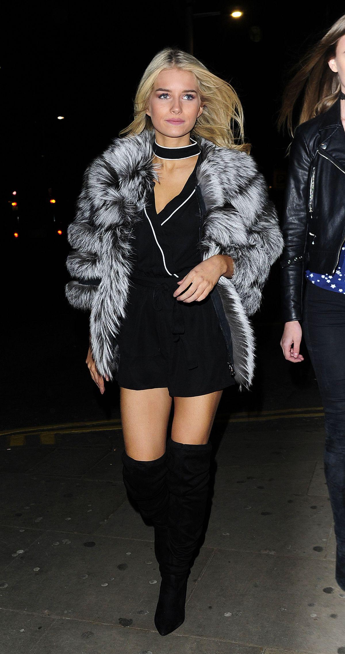 LOTTIE MOSS Night Out in Knightsbridge 01/19/2017