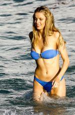 LOUISA WARWICK in Bikini on the Beach in Miami 01/02/2017