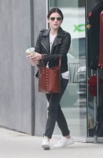 LUCY HALE at a Nail Salon in West Hollywood 01/03/2017