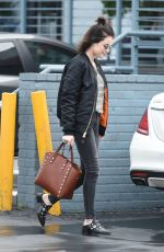 LUCY HALE Leaves a Nail Salon in Los Angeles 01/07/2016