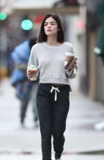 LUCY HALE Leaves a Starbucks in Los Angeles 01/12/2017