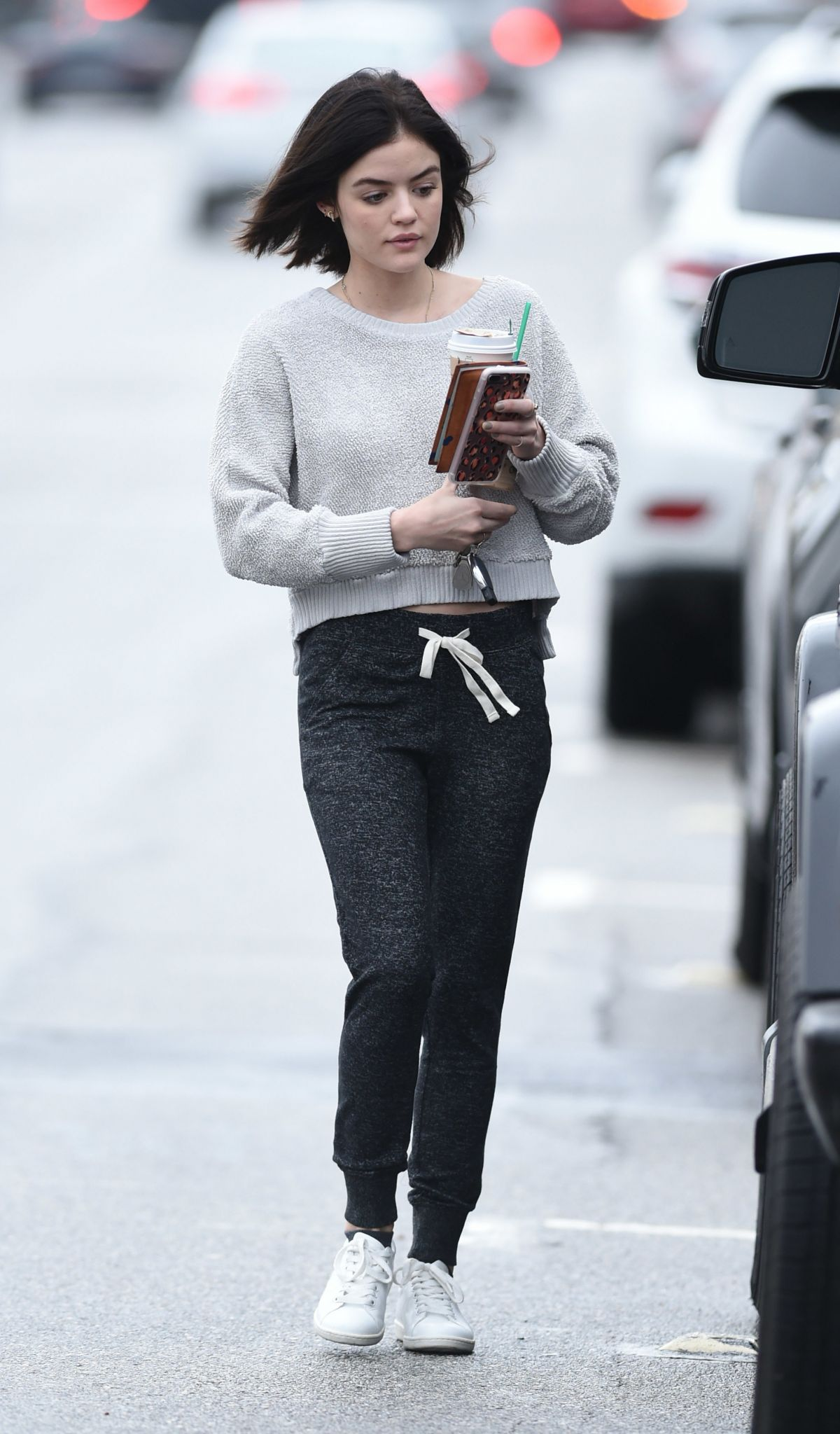 LUCY HALE Leaves a Starbucks in Los Angeles 01/12/2017 ...