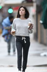 LUCY HALE Out and About in Los Angeles 01/12/2017