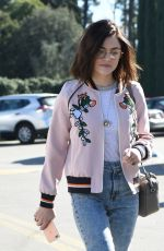 LUCY HALE Out and About in Los Angeles 01/28/2017