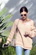 LUCY HALE Out Shopping in Los Angeles 01/30/2017