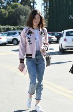 LUCY HALE Shopping at Urban Outfitters in Los Angeles 01/28/2017