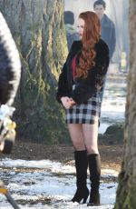 MADELAINE PETSCH on the Set of Riverdale in Vancouver 01/13/2017