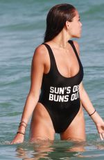 MADISON BEER in Swimsuit at a Beach in Miami 01/03/2017