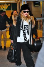 MADONNA at JFK Airport in New York 01/06/2017