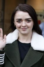 MAISIE WILLIAMS Arrives at BBC Radio 1 in London 01/17/2017