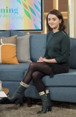 MAISIE WILLIAMS at This Morning Show in London 01/24/2017