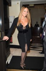 MARIAH CAREY Arrives at Her Hotel in London 01/15/2017