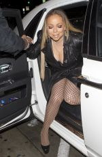 MARIAH CAREY at Catch LA in West Hollywood 01/23/2017