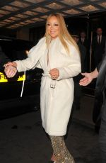 MARIAH CAREY Leaves Her Hotel in London 01/14/2017