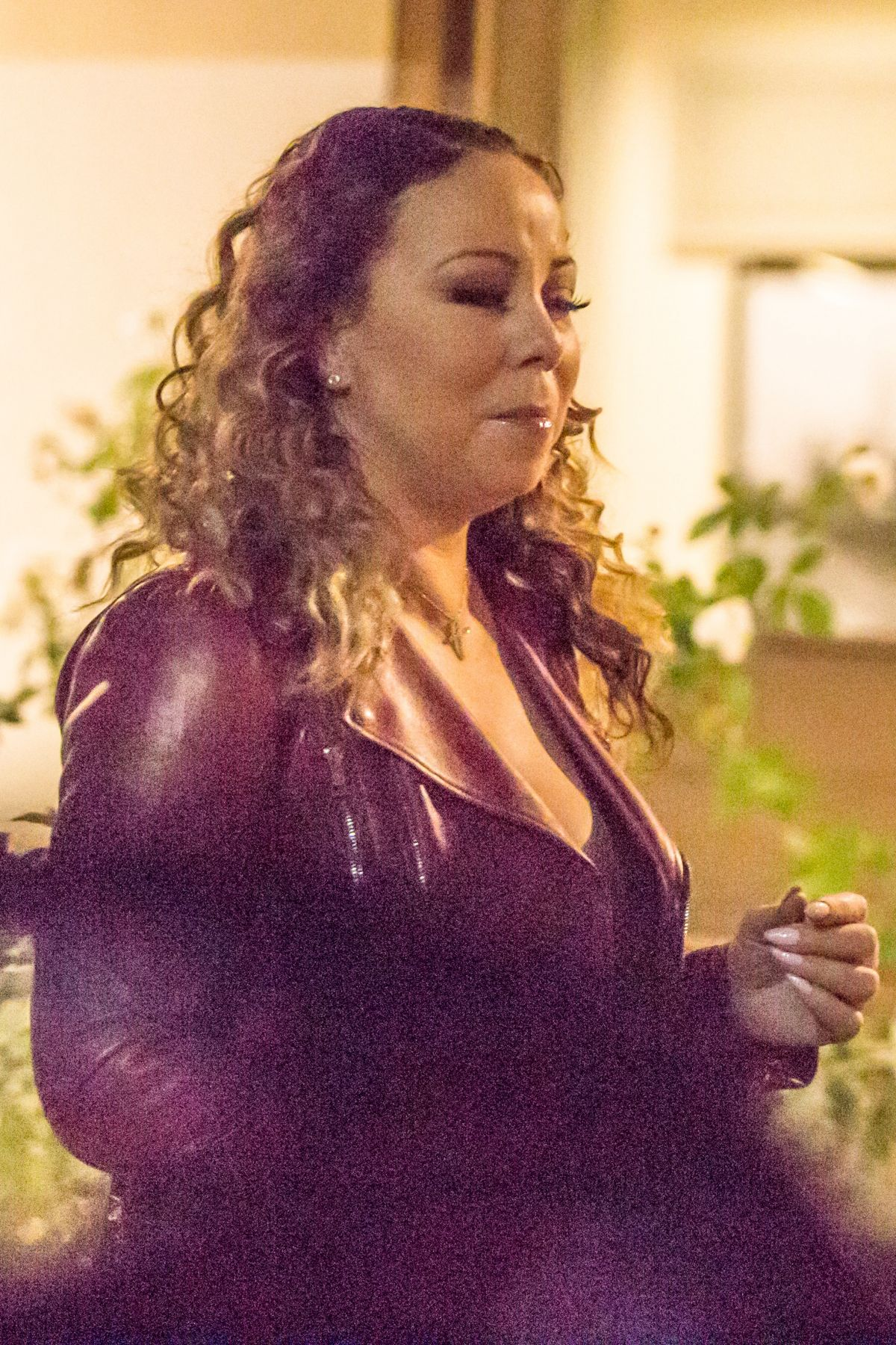 MARIAH CAREY Out for Dinner in Calabasas 01/05/2017