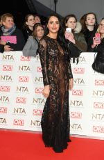 MARNIE SIMPSON at National Television Awards in London 01/25/2017