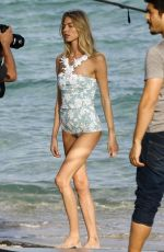MARTHA HUNT in Swimsuit on the Set of a Photoshoot in Miami 01/30/2017