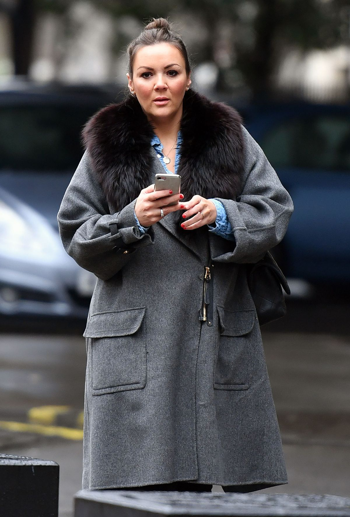 MARTINE MCCUTCHEON Arrives at Jason Vale